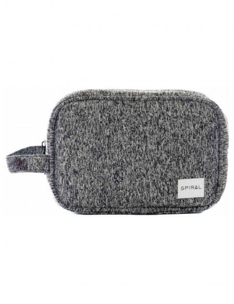 Spiral Jersey Grey Marl Wash Bag