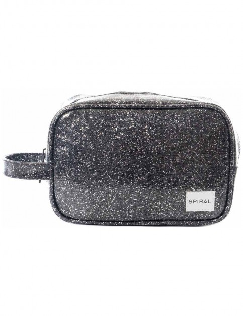 Spiral Jewels Black Wash Bag