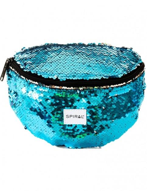 Spiral Mermaid Sequins Bum Bag in Blue