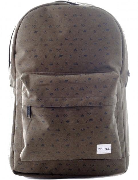Spiral Olive Backpack in Olive