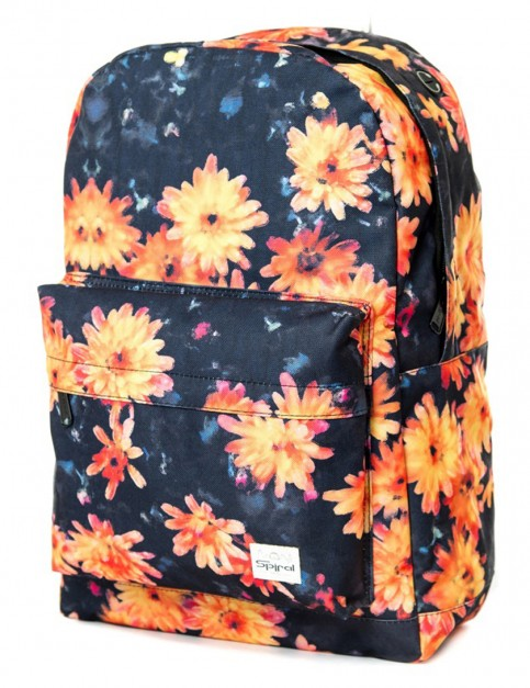 Spiral Painted Floral Backpack