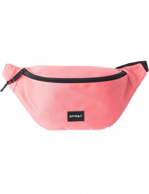 Spiral Peach Core Bum Bag in Peach