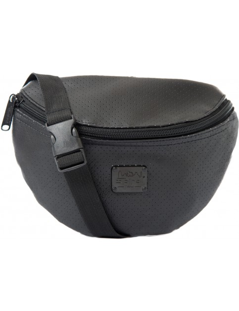 Black Spiral Perforated Bum Bag