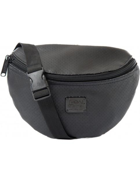 Spiral Perforated Bum Bag in Black