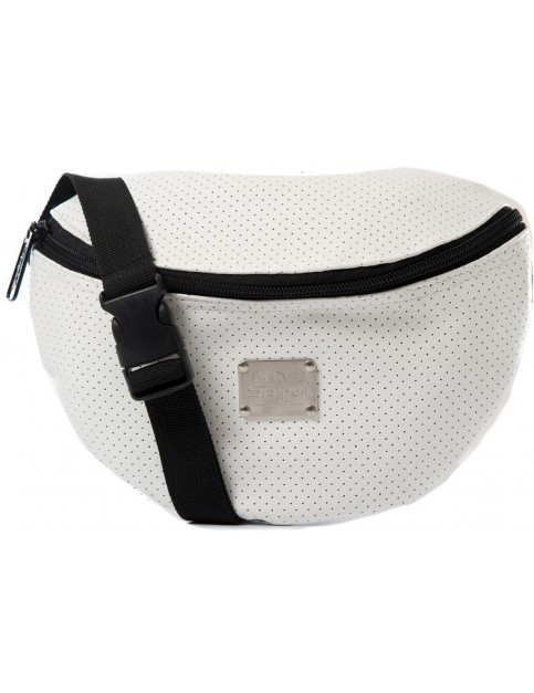 Spiral Perforated Bum Bag in White