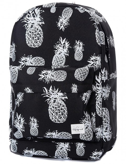 Spiral Pineapple Backpack in Black