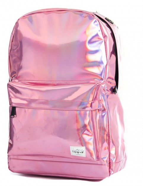 Spiral Pink Rave Backpack in Silver