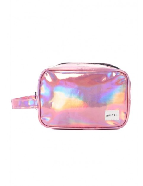 Spiral Pink Rave Wash Bag in Pink