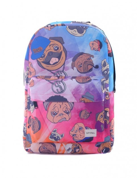Spiral Pug Life Backpack Backpack in Pug Life