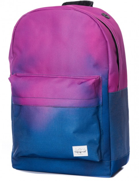 Navy Fade Spiral Purple Backpack