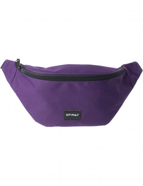 Spiral Purple Core Bum Bag in Purple