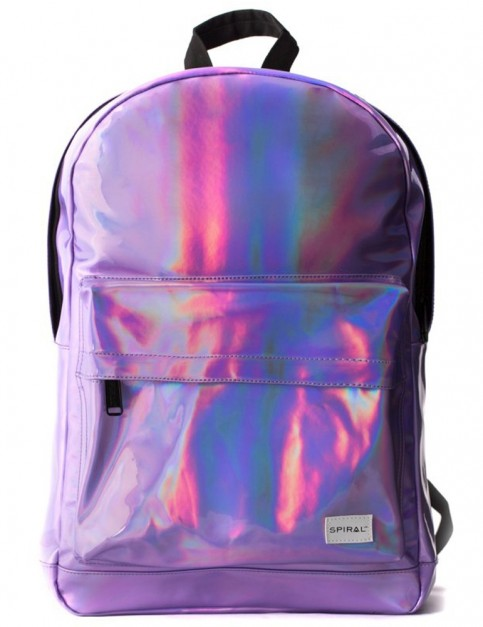 Spiral Purple Rave Backpack in Purple