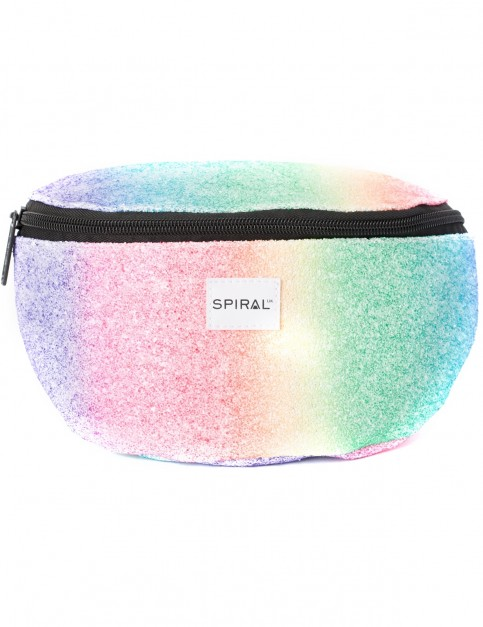 Spiral Rainbow Crystals Bum Bag in Multi