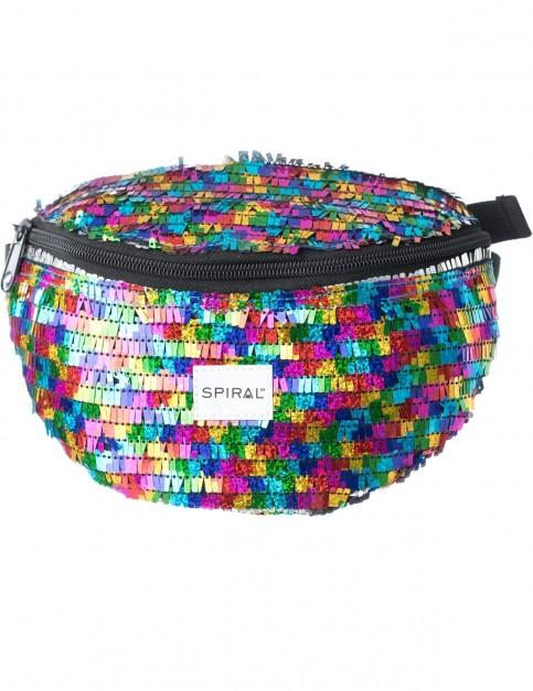 Spiral Ritz Rainbow Bum Bag in Multi Colour