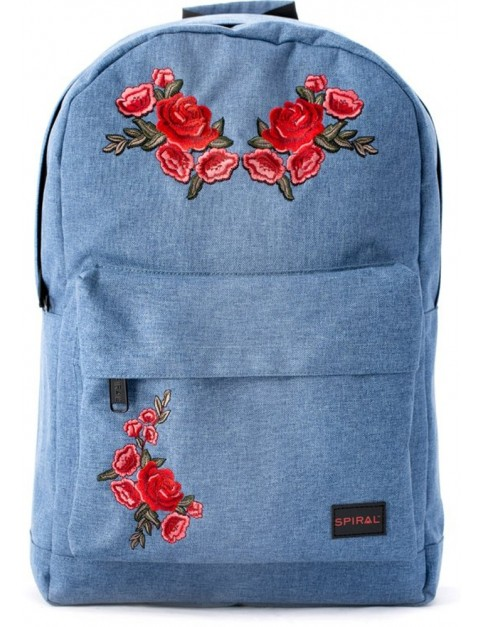 Spiral Rosegarden Backpack in Blue