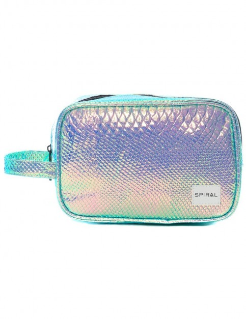 Spiral Sapphire Holographic Wash Bag
