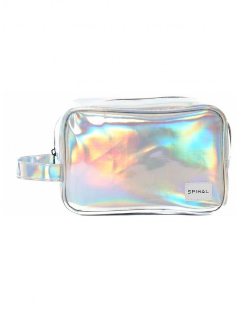 Spiral Silver Rave Wash Bag
