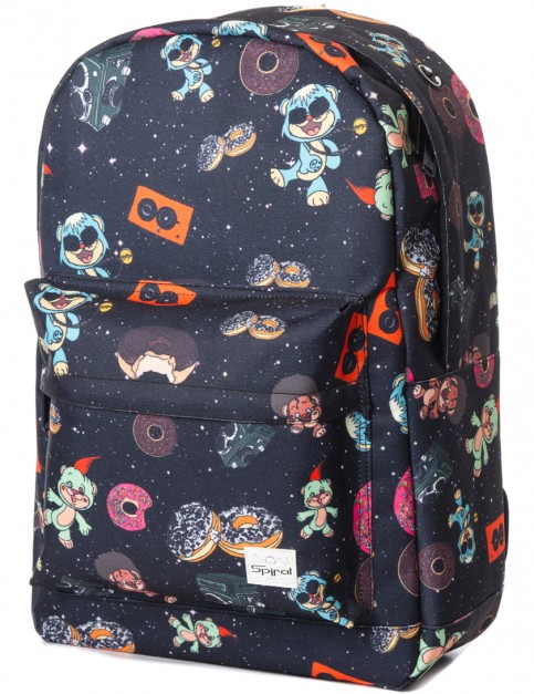 Spiral Space Party Backpack in Black