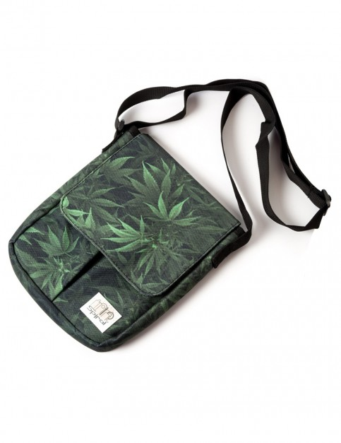 Spiral Stanford Grass Forest Flight Pouch Bag