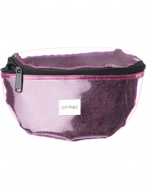 Spiral Transparent Sparkle Bum Bag in Purple