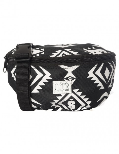 Black Spiral Tribal Bum Bag
