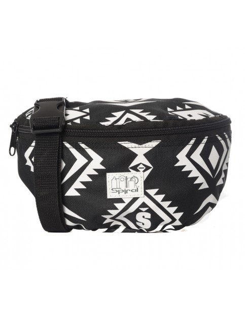 Spiral Tribal Bum Bag in Black