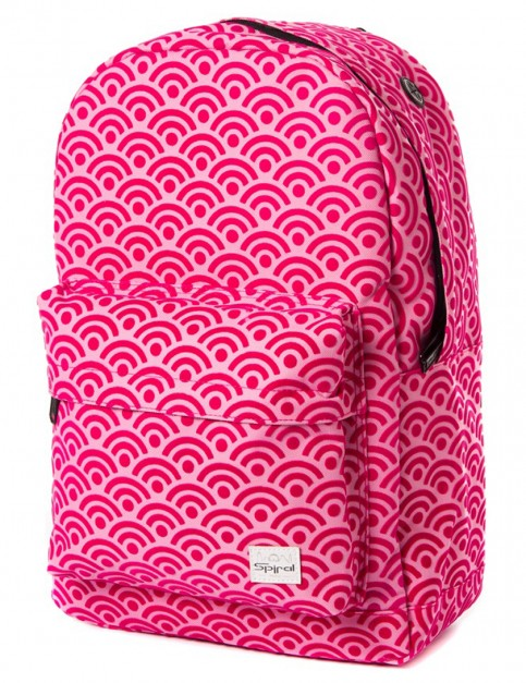 Spiral Waves Pink Backpack in Pink
