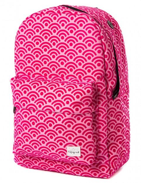 Spiral Waves Pink Backpack in Pink