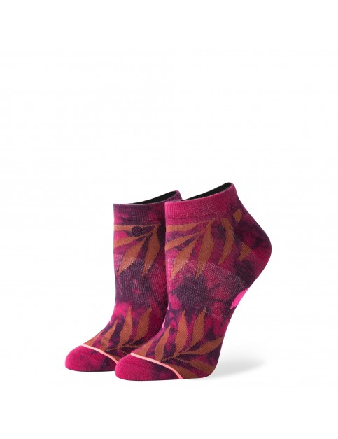Stance Acid Jungle No Show Socks in Maroon