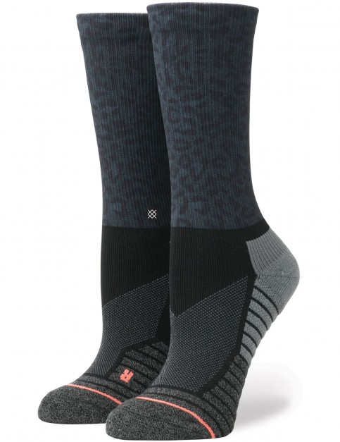 Stance Adrianne Ho Cheetah Crew Socks in Black