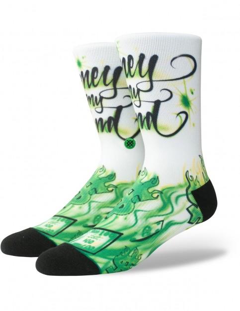 Stance Airbrush Money Crew Socks in Multi