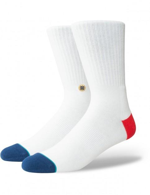 Stance At Eaze Crew Socks in White