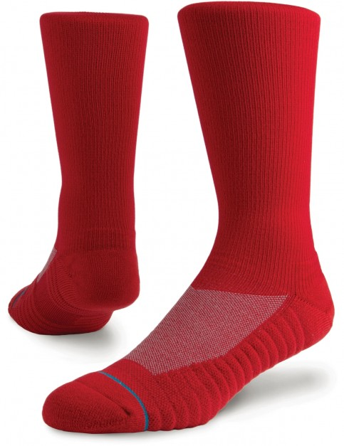 Stance Athletic Icon Crew Socks in Red