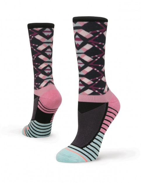 Stance Axis Crew Crew Socks in Purple