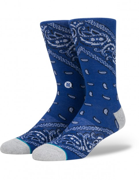 Stance Barrio 2 Crew Socks in Blue