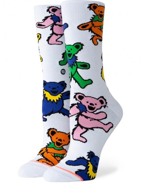 Stance Bears Choice Crew Socks in White