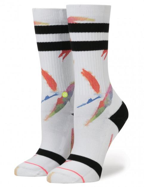 White Stance Birds Of Paradise Socks