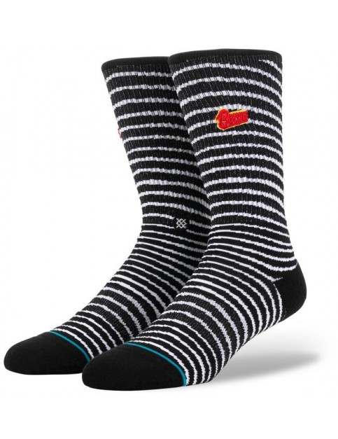Stance Black Star Crew Socks in Black