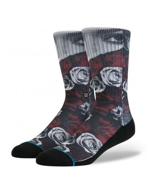 Stance Blocked Socks in Red