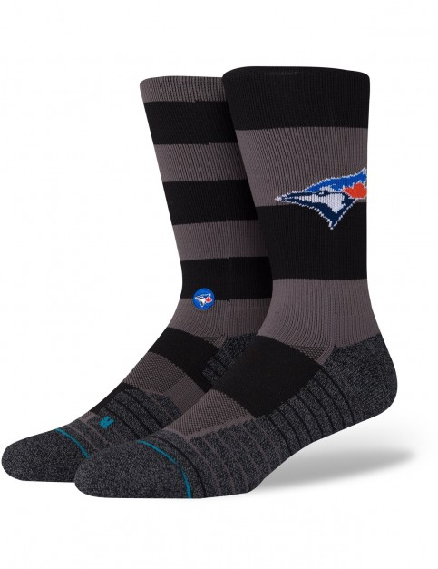 Stance Blue Jays Nightshade Crew Socks in Black
