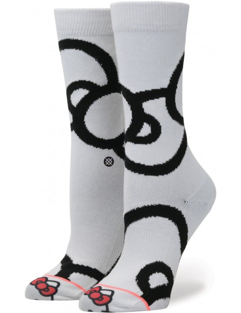 Stance Bows Crew Socks in White