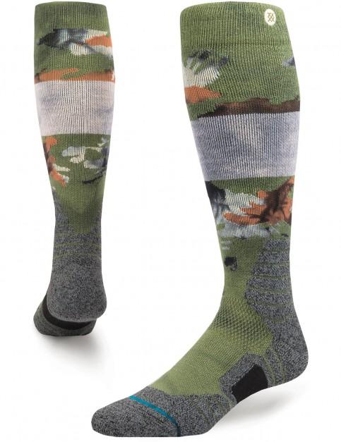 Stance Brando Snow Snow Socks in Olive