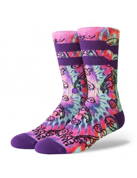 Stance Broke Crew Socks in Purple