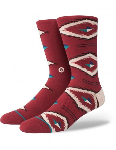 Stance Burke Crew Socks in Red