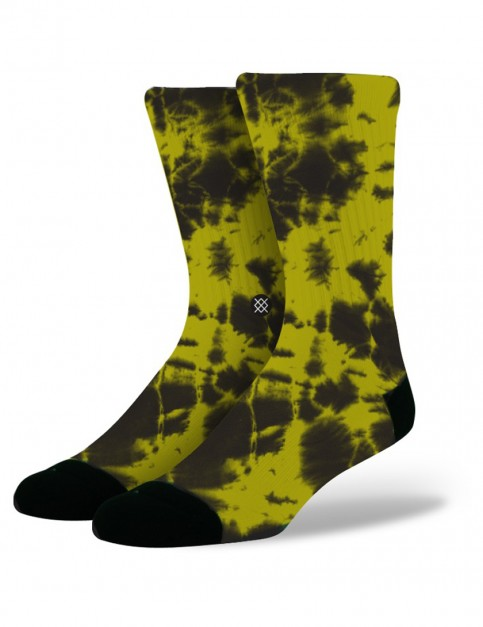 Stance Burnout Socks in Yellow
