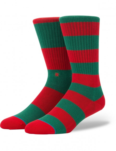 Stance Cadet 2 Crew Socks in Red