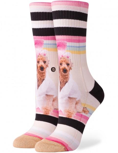Stance Call Me Bev Crew Socks in Pink