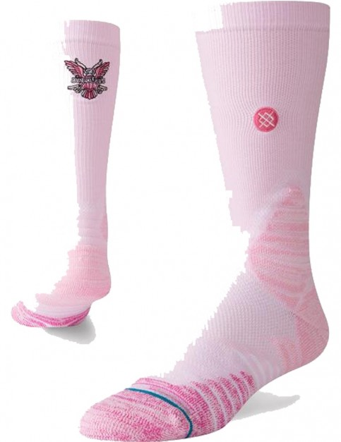 Stance Cam'Ron Hoops Crew Socks in Pink