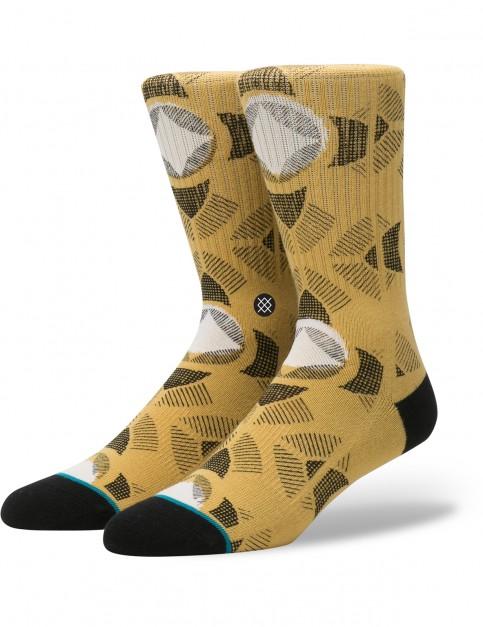 Stance Cancun Crew Socks in Gold