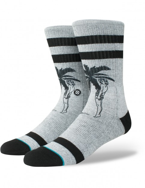 Stance Cheeky Palm Crew Socks in Grey